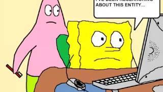 Spongebob in PARANORMAL ACTIVITY 1