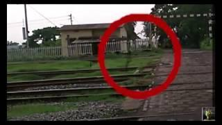 Ghost Spotted on Railway Tracks!! Real ghost caught on camera
