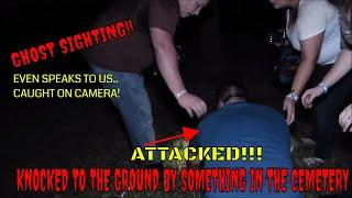 "ATTACKED IN CEMETERY! GHOST SPEAKS TO US ""CAUGHT ON CAMERA""!!"