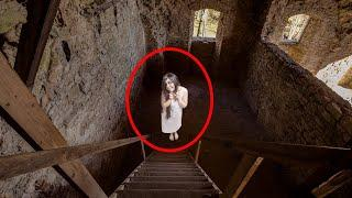GHOST With Sharp Long Teeth Caught On Camera In An Abandoned House In Forest