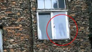 Reflection Of Real Ghost Looking Through A Window Caught On Tape!!