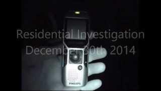 EVP capture at residential investigation
