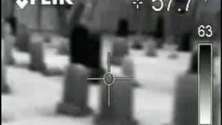 Haunted Cemetery Ghost Thermal Footage Paranormal Caught on Tape?
