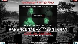 Paranormal-X LIVE TV Talk Show | Team Chat | #1