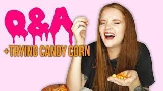 TRYING CANDY CORN FOR THE FIRST TIME + Q&A
