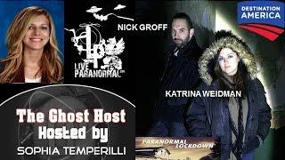 Nick Groff and Katrina Weidman promoting Destination America's 'Paranormal Lockdown' EXCLUSIVE!!:)