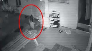 Unbelievable Ghost Sighting!! Real Ghost Entering A House Caught On Tape!!