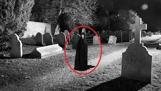 'Ghostly' Figure Captured At Cemetery Caught On Camera!! Ghost Videos