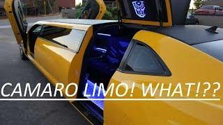 SAW A CAMARO STRETCH LIMO! BUMBLE BEE transformers!