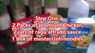 Step By Step Chicken Alfrado