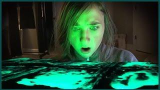 Scary Paranormal Spirits Unbury and Light up Ouija Board - it Flies Away