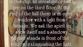 APPARITION, SHADOW FIGURE, AND ORB ALL CAUGHT ON FILM!