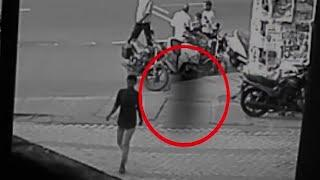 A Huge Ghost Following A Boy On The Road!! Ghost Video Compilation!!
