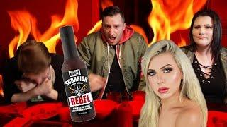 Super Spicy Hot Wings Challenge In a HAUNTED HOUSE!
