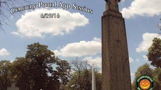 Portal Ghost Box App Cemetery Session Using My Mini Portal on 6/29/16