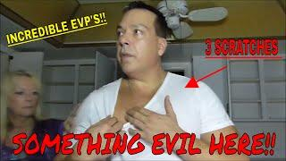 "EVIL IS HERE(3 SCRATCHES) ""3 AM AT MURDER HOUSE""!!!"