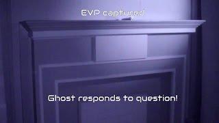 Paranormal EVP captured of a spirit responding to a question.
