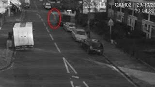 Ghostly Shape Caught On CCTV Camera   Ghost Videos 2015   Frightening Scary Videos