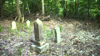 Incredible paranormal footage caught on camera! Actual black shadow person in cemetery at the