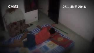 Girl Ghost roaming in bedroom | Paranormal activity caught on CCTV camera | Paranormal activity