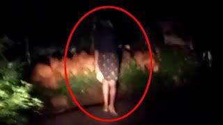 Spooky Girl Ghost Standing Still Caught On Tape By A Boy!! Ghost Sightings!!