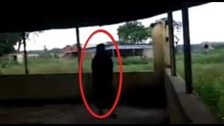 REAL GHOST CAUGHT ON TAPE | BLACK GHOST ON CAMERA