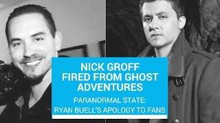 Nick Groff fired from Ghost Adventures, Ryan Buell's Apology, and Give-a-way winners