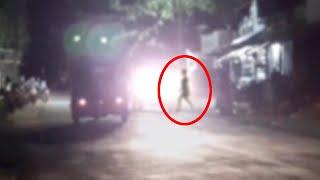 Ghost Sightings!! Real Ghost Crossing Road Caught On CCTV Camera!!