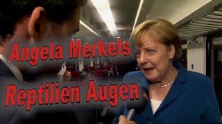 HOAX? - Reptilien Augen von Angela Merkel