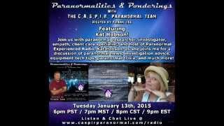 Paranormalities & Ponderings Radio Show featuring guest Kat Hobson!