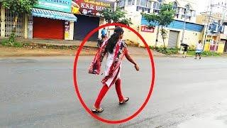 Real Ghost Caught On Camera   Entering In To Women   In Public Road   GhostWorldMedia
