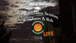 Live Ghost Box Sessions. The Portal App, P-SB7 maybe some other apps too.