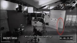 #YoSoyTrasnochePop   FANTASMA EN SET DE TV