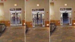 Escalofriante vídeo muestra el momento en que las puertas de un hotel se abren y cierran por sí sola