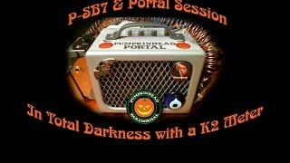 P-SB7 Radio Ghost Box & Portal Session using a K2 Meter in Total Darkness
