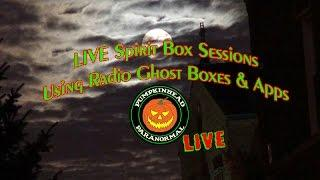 LIVE Attempting Spirit Communication Using Ghost Box Radios & Apps