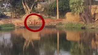 Girl attacked by ghost near village pond! Rare GHOST Clip Scary Videos
