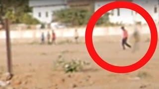 GHOST FOLLOWING MAN AT PLAYGROUND Caught On Tape !! Scary Ghost Movie Paranormal Activity