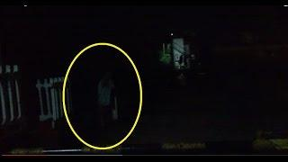 Ghost caught on tape CCTV LIVE Haunted Man Spooked By Mysterious Ghost Entity Scary Videos