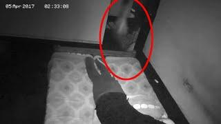 A Boy Sets Up A Camera In His Bedroom To Record Paranormal Activity!!