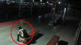 REAL Ghost in HAUNTED Railway Station ~ Real Ghost Caught on Tape ~ Real Ghost Videos ~ Scary video