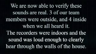 """CLIP - """" trumpet"""" sounds caught in Tampa Florida by Paranormal team during investigation"""