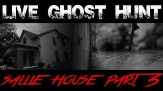 CREEPY!!!! LIVE Ghost PARANORMAL Hunt MOST HAUNTED Sallie House DAY 3 2013