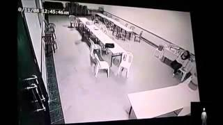Scary ghost attack caught on tape in haunted hotel