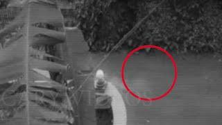 CCTV Ghost Footage | Ghost Caught On CCTV Camera From A House Courtyard | Scary Videos