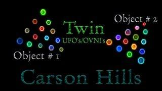 "Carson Hills Nevada ""Twin UFOs/OVNIs"" - January 25th 2014 5:45 PM"