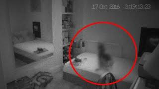 GHOST Sitting On Bed Caught On CCTV Camera!! Ghost House!!