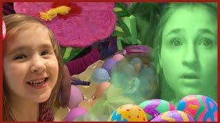 Kids Easter Eggs and Party Fun - Girls Fear Real Paranormal Activity