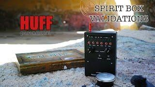 Spirit Box Validations. Crystal Clear responses from Spirit