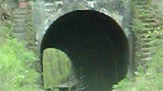 little girl at moonville tunnel